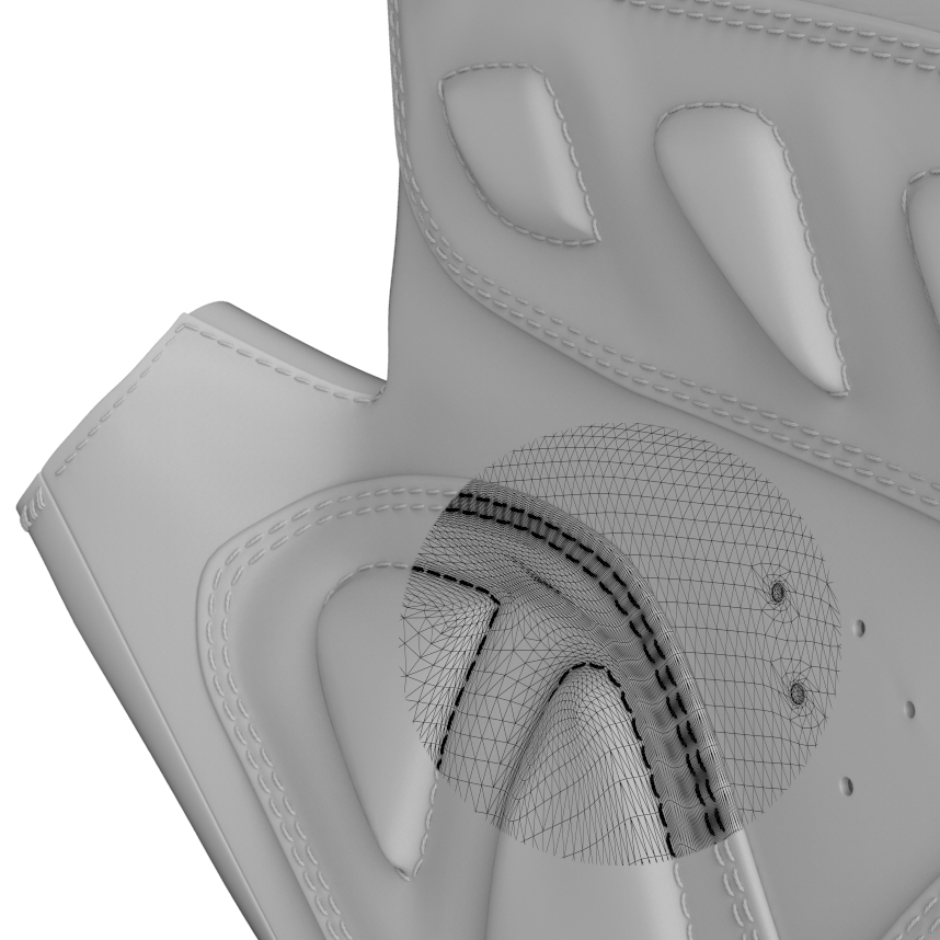 gloves hyper-realistic modeling - web